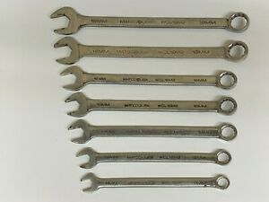 Matco Tools 7pc Combination Wrench Set Metric Wcl Series 12 Point Usa