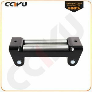 Duty Winch Roller Fairlead Universal 4 Way Roller Cable Guide For 02 10 Hummer