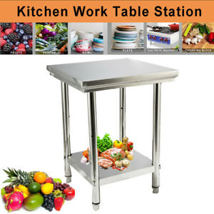Stainless Steel 24 X 24 Commercial Work Prep Table Kitchen Food Table Silver