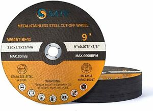 25x Cut Off Wheels 9x 075x7 8 Metal Stainless Steel Angle Grinder Cutting Disc