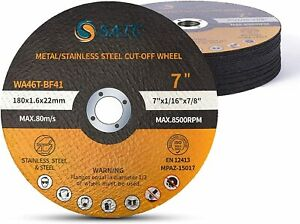 25x Cut Off Wheels 7x1 16x7 8 Metal Stainless Steel Angle Grinder Cutting Disc