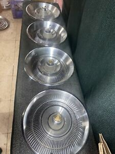Set Of Four 1966 Chrysler Hubcaps 15 A