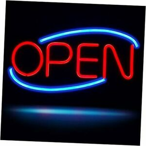 Neon Open Sign ultra Brighter Open Business 19 8 x10 5 Red blue