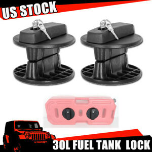 2x Lock For 30l 8gallon Fuel Gas Tank Can Container Gasoline Backup For Jeep Suv