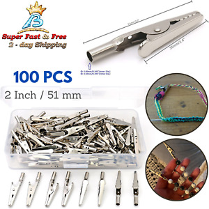 100 Sweater Clips Holder Alligator Clip 2 Battery Test Lead Crocodile Jaw Clamp