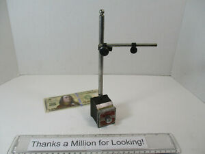 Starrett 657 Magnetic Base W Dovetail Snug 657p Straight Arm Great Cond Vg