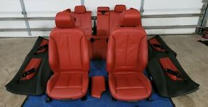 Bmw F30 Red Seats Door Cards Lci F30 335i 328i Interior M Sport Package