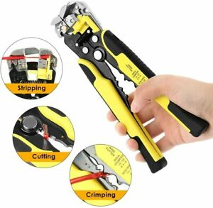 Wire Cutter Self Adjusting Automatic Cable Crimper Cutting Tool 10 24 Awg