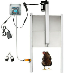 Infrared Induction Duty Autom Chicken Coop Door Opener Timer Operated W Remote
