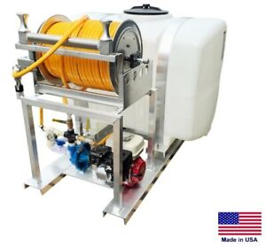 Sprayer Commercial Skid Mounted 10 Gpm 50 Psi 5 5 Hp 200 Gallon Tank