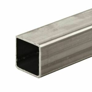 304 Stainless Steel Square Tube 5 8 X 5 8 X 0 049 X 18 Long polished