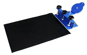 Used Simple Color Silk Screen Printing Press Clamp Shirt Printer With Rubber Pad