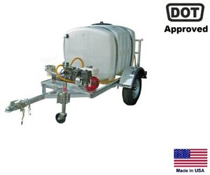 Sprayer Commercial Trailer Mounted 15 Gpm 200 Gallon Tank Highway Ready