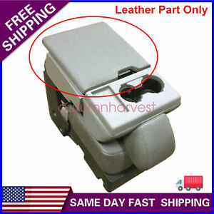 Leather Center Console Lid Armrest Cover Bench Seat For 2015 2020 Ford F150 Gray