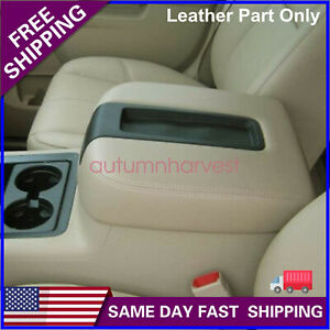 Console Armrest Leather Cover For Chevy Tahoe Suburban Silverado 07 13 Tan