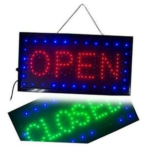 Ultra Bright Led 2 In 1 Open Closed Sign Business Signs For Drink Food