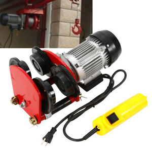 Electric Overhead Motor Winch Hoist Lift Garage Crane With Remote Trolley New