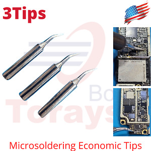 Solde Iron Tips 4mm X 6 25mm Curve Tip Edge Replacement Solder Station 900m t si