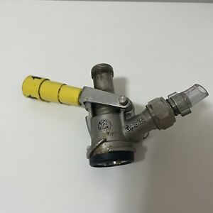 Micro Matic Keg Coupler Sk 184 03 Gasin System Beer Draft Free Ship Yellow