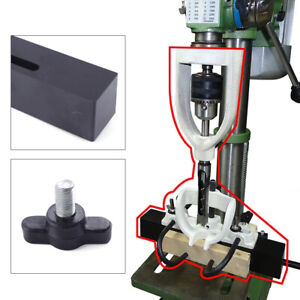 Woodworking Bench Mortiser Square Hole Chisel Drilling Machine Locator Set Steel