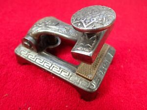 Antique Vintage Ornate Nickle Plated Cast Iron Check Protector Office Tool
