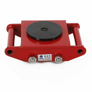 6t Heavy Machinery Mover Dolly Skate Roller Trolley Moving Roller 360 Rotation