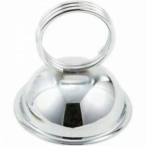 Table Top Stainless Steel Menu Card Holder 18 Pcs Winco