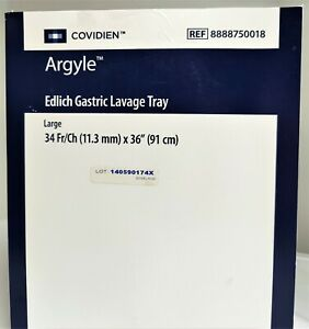Covidien Argyle Edlich Gastric Lavage Tray ref 8888750018 Free Usps Shipping