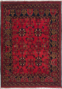 Vintage Hand Knotted Carpet 3 4 X 4 9 Traditional Oriental Wool Area Rug