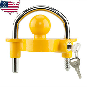 Universal Coupler Trailer Lock Ball Adjustable For 1 7 8 2 And 2 5 16 Lock