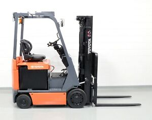 Clean Toyota 7fbcu18 3 500 Lb 48v Electric Forklift Low Hours
