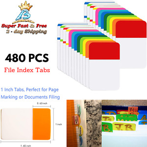 Adhesive File Index Tabs Note Page Id Markers For Folder Catalog Notebooks 480pc