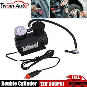 12v Electric Air Pump 100psi Air Compressor Portable Tire Inflator For Bike Boat