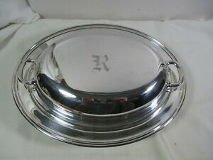Manchester Sterling Silver Oval Covered Serving Dish 703 Mono R 801 9 Grams