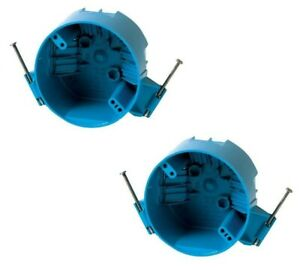 2 Pack B520a 4 Ceiling Round Electrical Box New Work With Nails 20 Cubic Inch