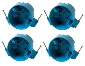 4 Pack B520a 4 Ceiling Round Electrical Box New Work With Nails 20 Cubic Inch