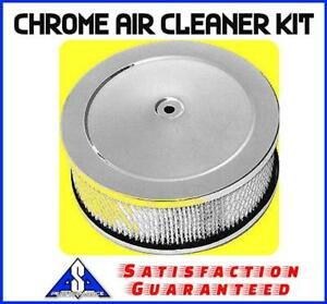 6 38 In Chrome Air Cleaner Kit Breather Filter Hot Rat Rod Fits Holley Sbc Bbc