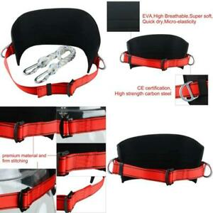 Tysun Safety Belt With Hip Pad 2 D Rings And Lanyard Safety Harness Fall Protect