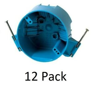 12 Pack B520a 4 Ceiling Round Electrical Box New Work With Nails 20 Cubic Inch