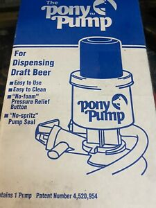 The Pony Pump Keg Tap For Dispensing Draft Beer With Box Manual