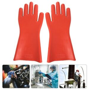 Insulated Rubber Gloves High voltage Proof Waterproof Electrical Safety Protect