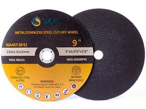 10x Cut Off Wheels 9x 075x7 8 Metal Stainless Steel Angle Grinder Cutting Disc