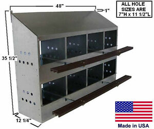 Chicken Coop Commercial Nesting Box Roost 8 Hole Holds 32 Hens