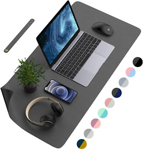 Desk Pad Protector Mat Dual Side Pu Leather Desk Mat Large Mouse Pad Waterproof