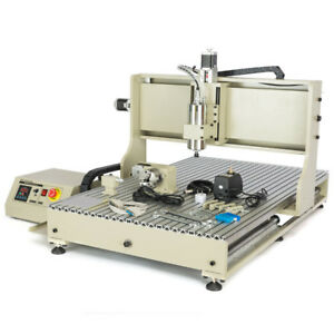 Usb 6090 4 Axis Cnc Router Engraving Milling Metal Vfd 3d Machine 2 2kw Cutter