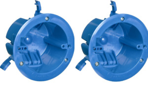 2 Pack B618r 1 gang 18 Cubic Inch Round Old Work Electrical Box Ceiling