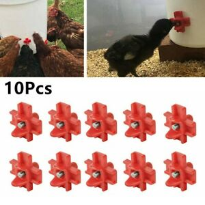 10pcs Waterer Poultry Automatic Chicken Drinker Feeder Horizontal Mount