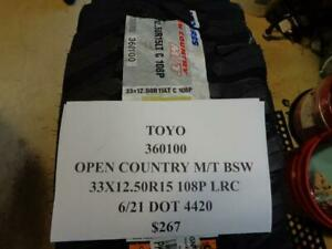 2 New Toyo Open Country Mt Bsw Tires 33 12 5 15 108p Lrc 360100 Q1