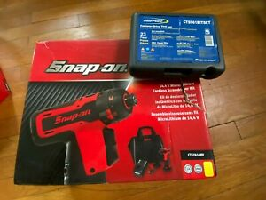 New Snap On 14 4 1 4 Hex Microlithium Cordless Screwdriver Kit Cts761ahv