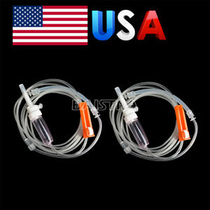 2pcs Dental Surgical Implant Irrigation Pipe Disposable Tubing Fit For Nouvag
